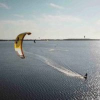Kite spot lo stagnone drone shot, kitesurfing trip sicily; kitelab school magda