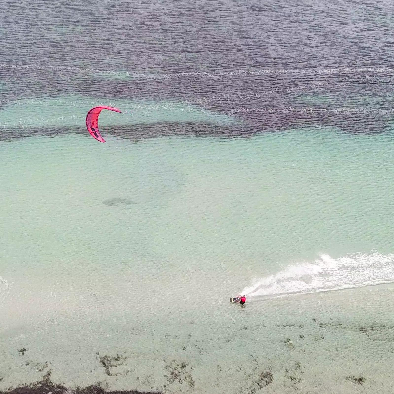tahite kite spot close to lo stagnone drone shot
