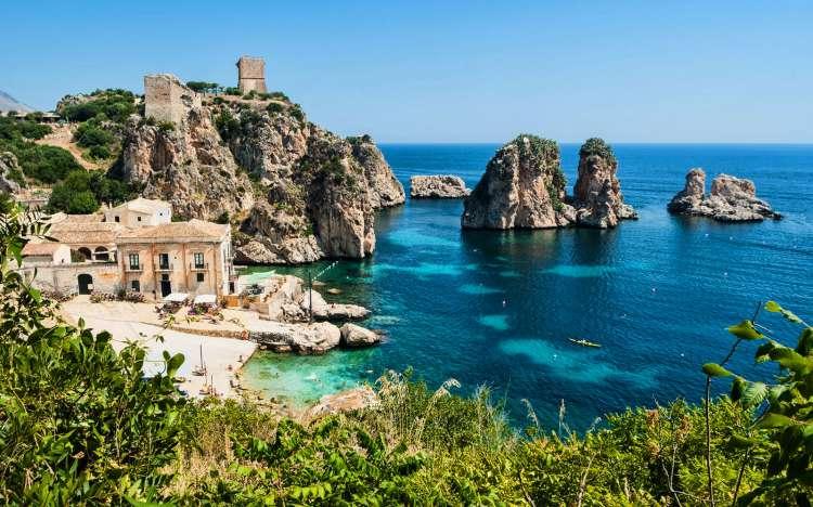 Plage de tonnara di scopello, sicile tourisme guide, visite sicile de l'ouest