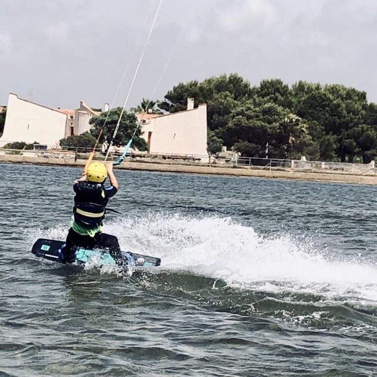 teaching kids kitesurfing safely; kite sicily lo stagnone; best kite spot sicily