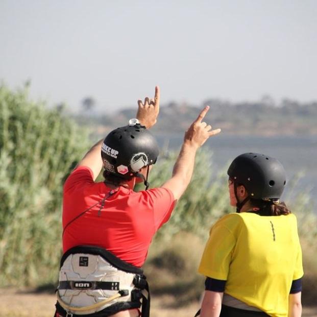 kitesurf course sicily; kite lesson lo stagnone