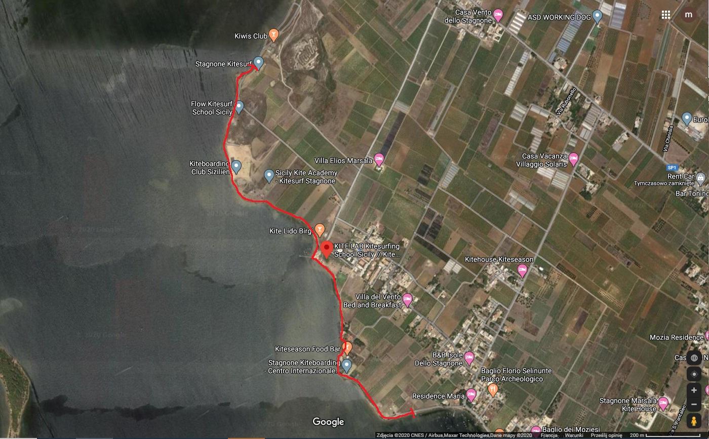 kitesurfing school sicily map
